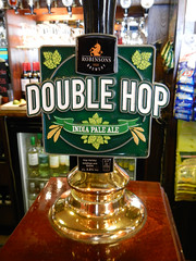 Tap for a Double Hop craft beer at the pub in Moelfre near Beaumaris  on Anglesey Island in Wales