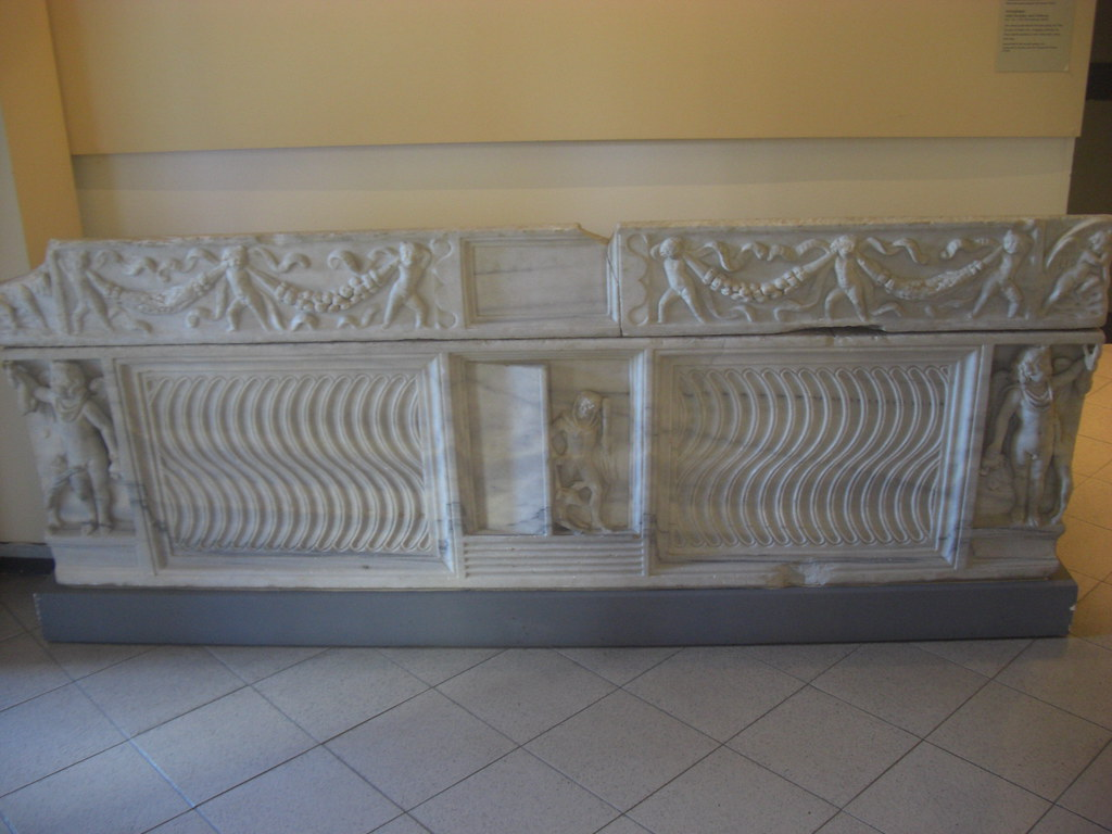 Sarcophagus with Hercules and Cerberus