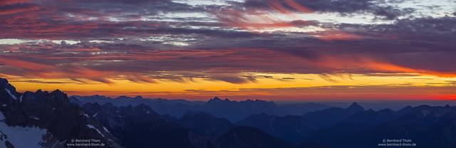 Colourful evening over Werdenfelser Land