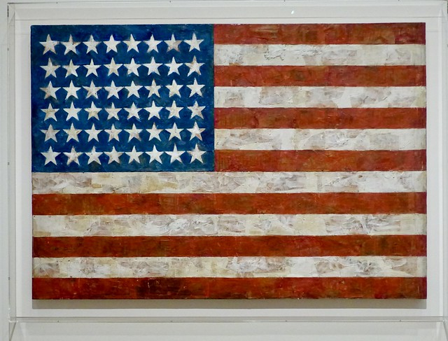 393. Flag 1954 - 55 Artist : Jasper Johns, American, born 1930
