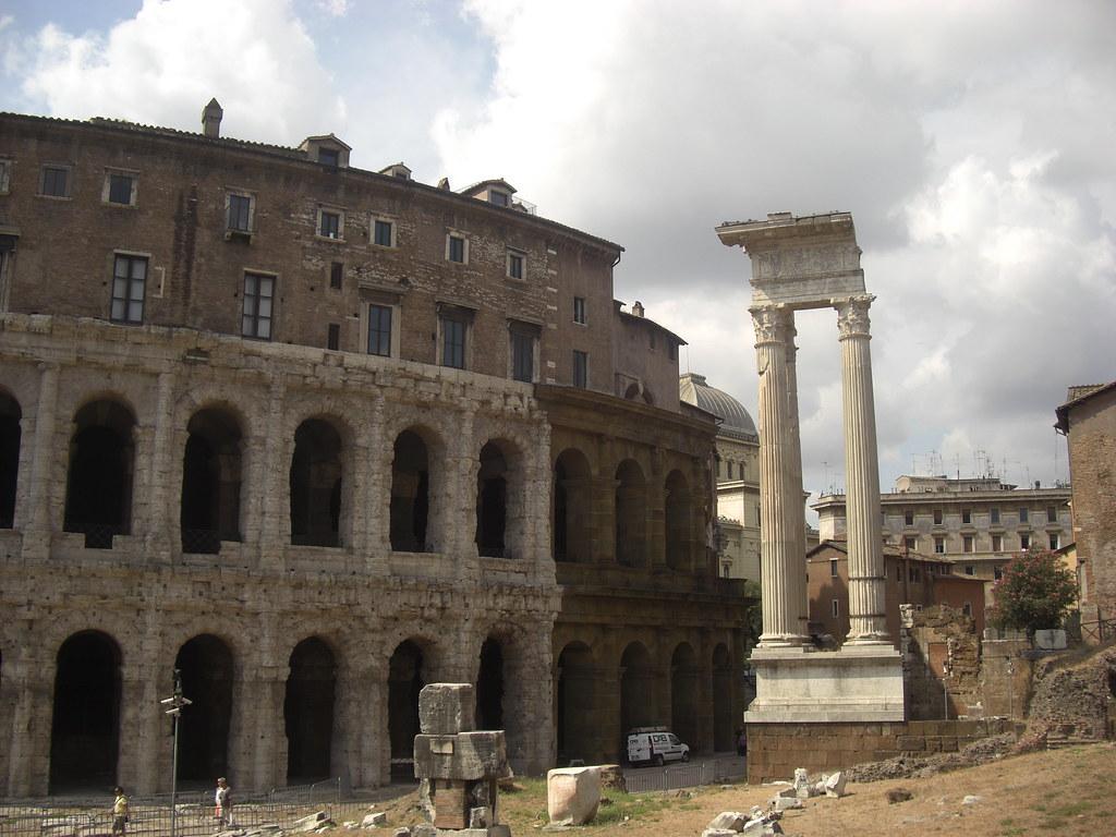 Theatre of Marcellus and Temple of Apollo Sosianus