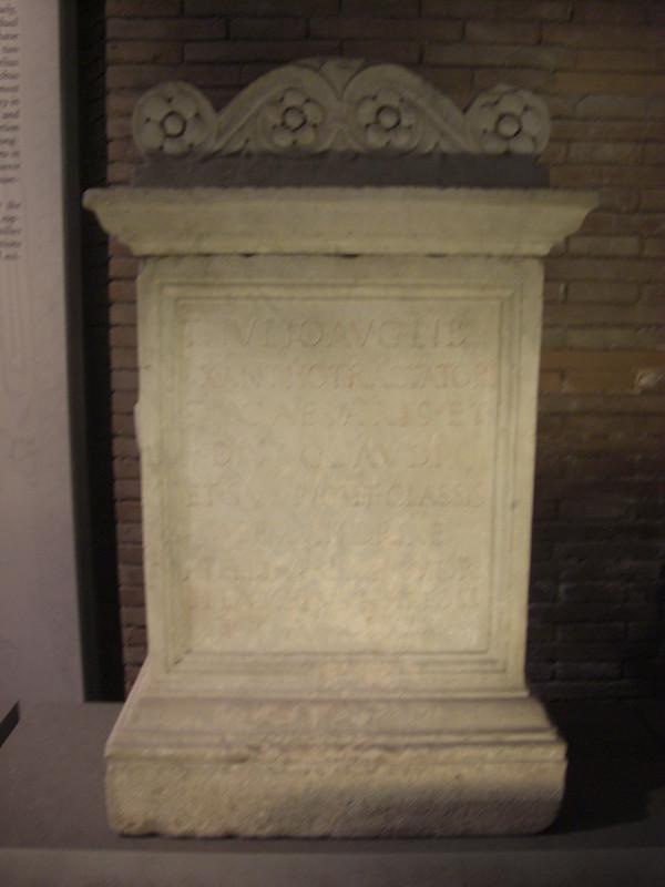 Funerary Monument to Ti. Julius Xanthus