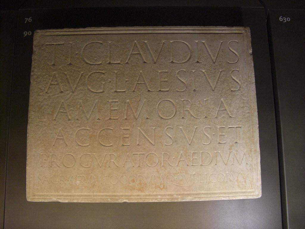 Inscription from the Tomb of Ti. Claudius Aesius
