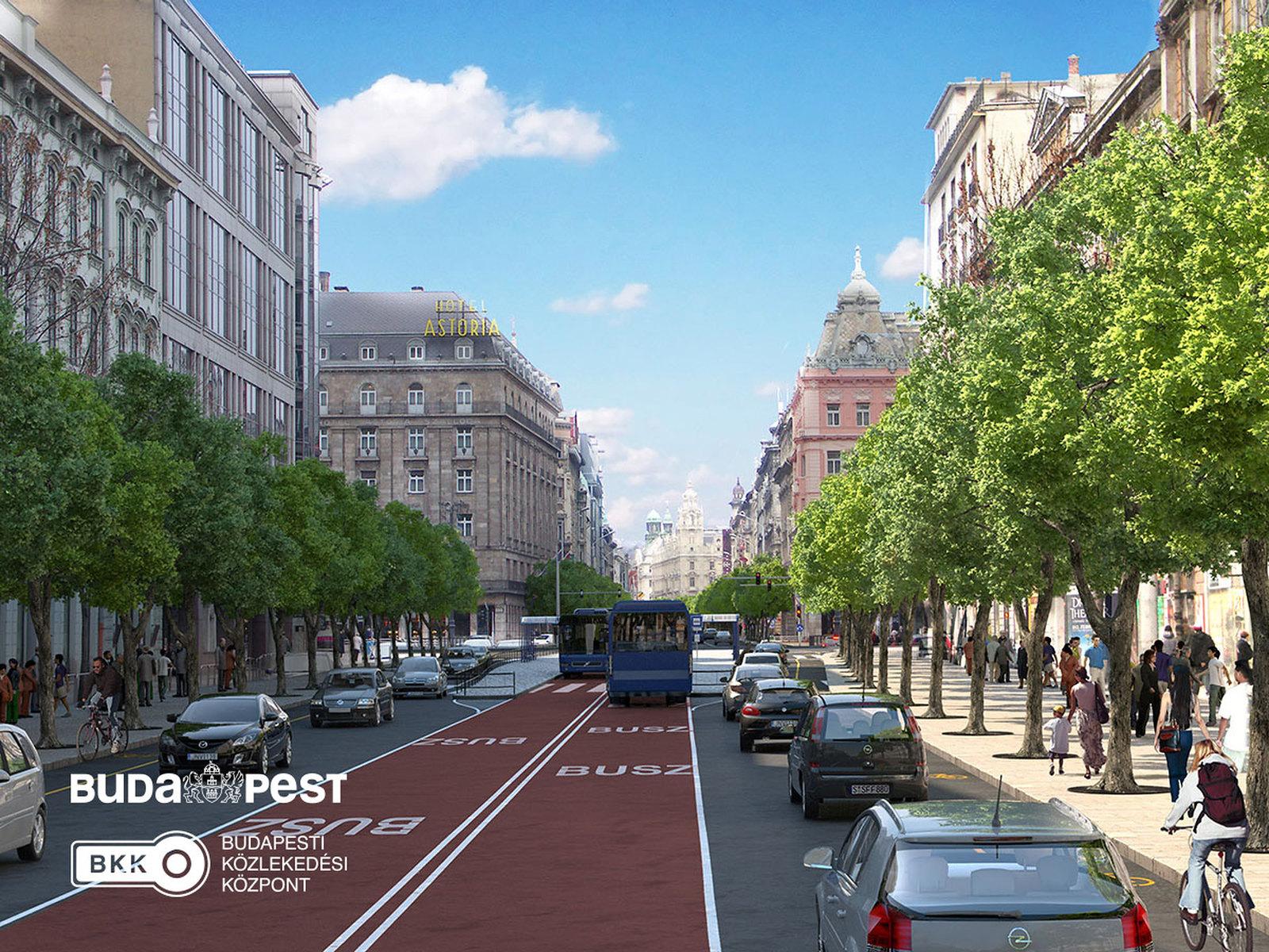 Buszvillamost és kerékpárutakat terveznek a Nagykörútra