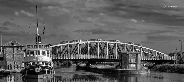 Daniel Adamson Steamship - River Weaver - 25 July 2021- B&W 1