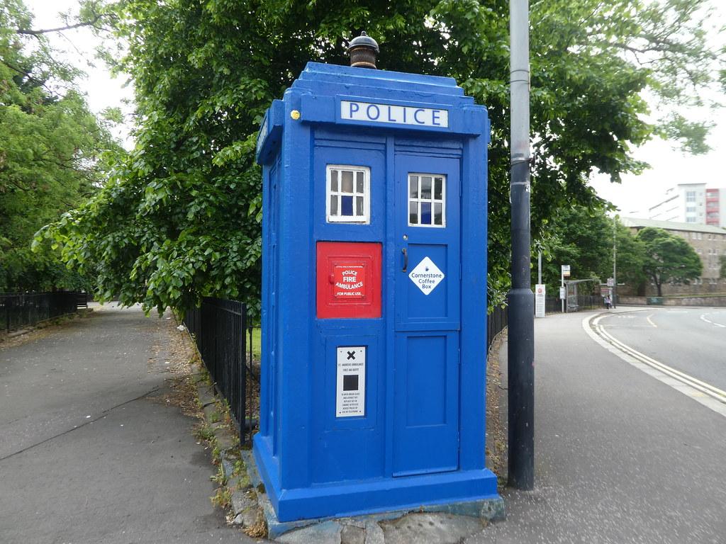Blue Tardis Police Box, Glasgow