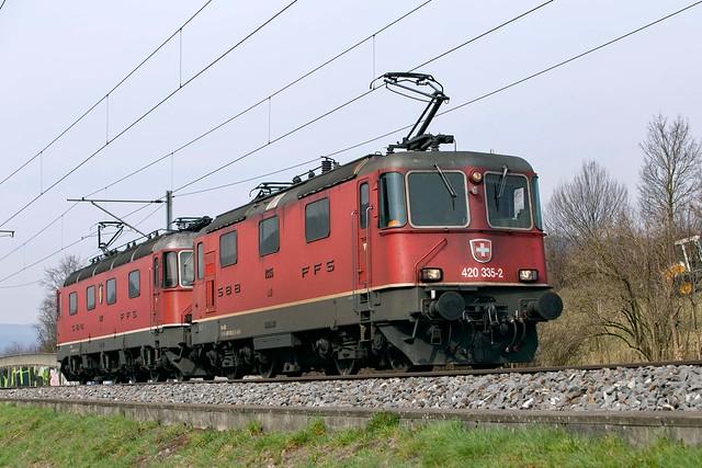 SBB Re 10/10 420 335 + 620 017 Sissach
