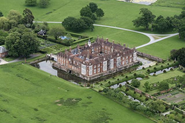 Helmingham Hall aerial image - Suffolk UK