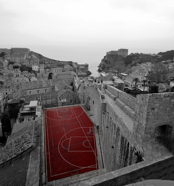 Medieval basketball court