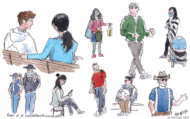 People at SF Ferry Building