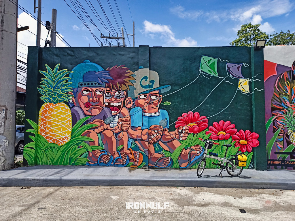 One of the new murals in Tagaytay across Ayala Serin