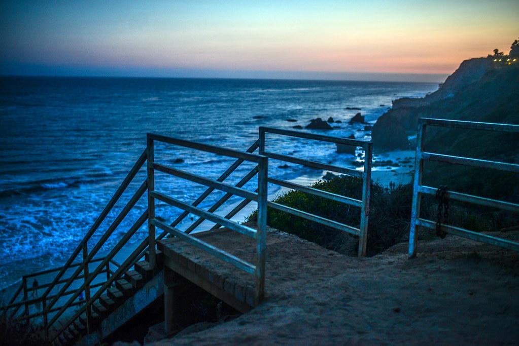 El Matador Beach stairs