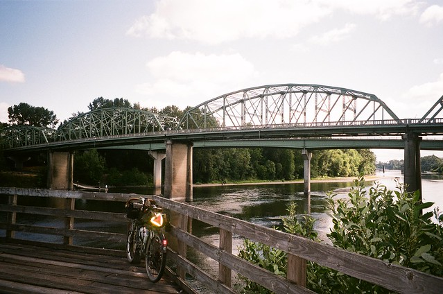 Bridges across the Willamette River at Albany, OR. 21 July 2021