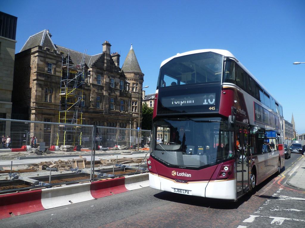 Lothian 445 on Leith Walk, Edinburgh.
