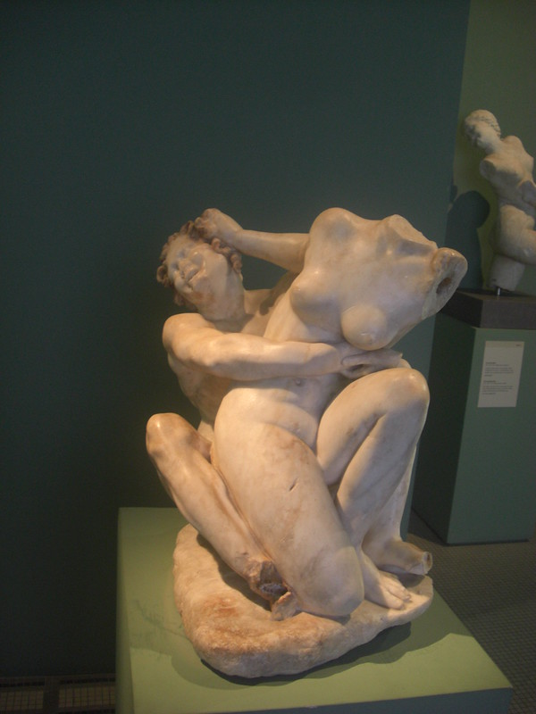 Statue of a Satyr and a Nymph