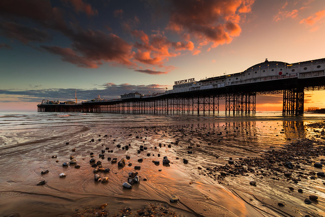 Brighton Palace Pier Sunset - Sussex