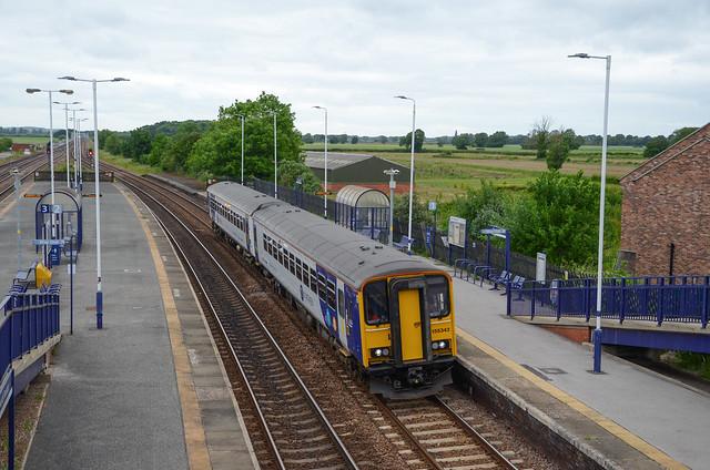 155343 departs Church Fenton working 2R17 1345 York to Bridlington
