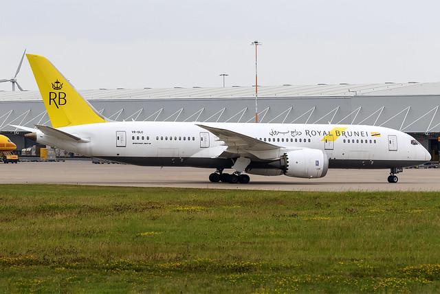 Royal Brunei 787-8 Dreamliner V8-DLC at East Midlands Airport EMA/EGNX