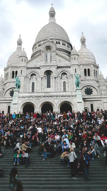 Montmartre + Sacré-Cœur, Hlg. Herz  Jesu - Cor Jesu Sacratissimum. Sehenswürdigkeit.