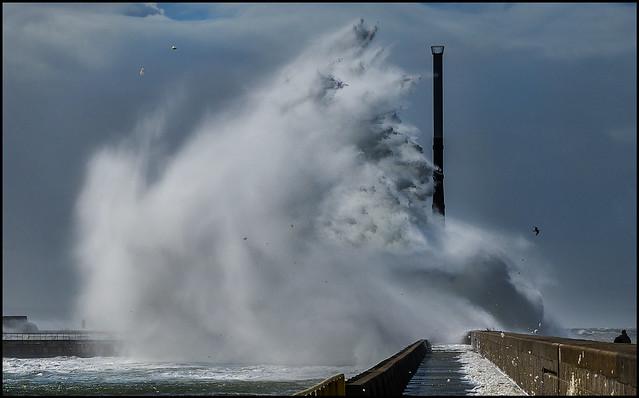 Equinox storm in Le Havre