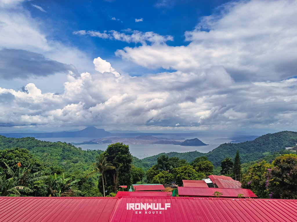 Getting a view of Taal Lake and Volcano