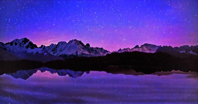 FRANCE - Alps - Night reflection