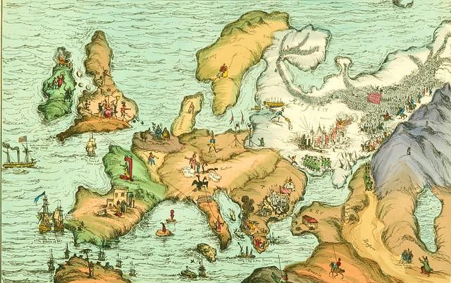Satirical map of Europe, 1830