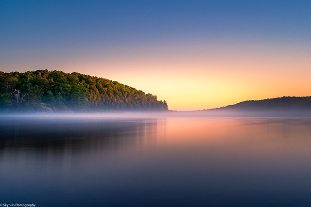 Long exposure sunrise at Buck Lake.