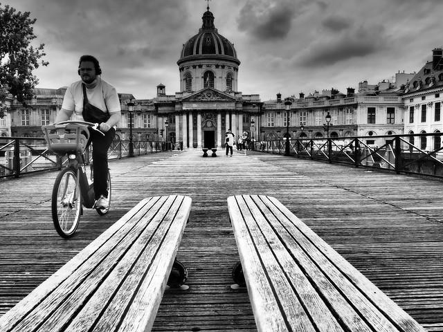 Vélo sur pont
