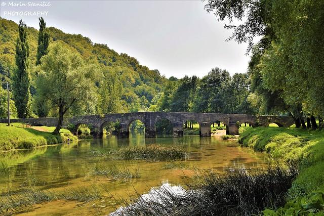 Summertime afternoon on river Dobra....