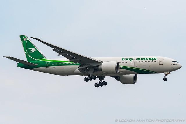 25-Jul-2021 ADW YI-AQZ 777-29MLR (cn 40993-1006)   / Iraqi Airways