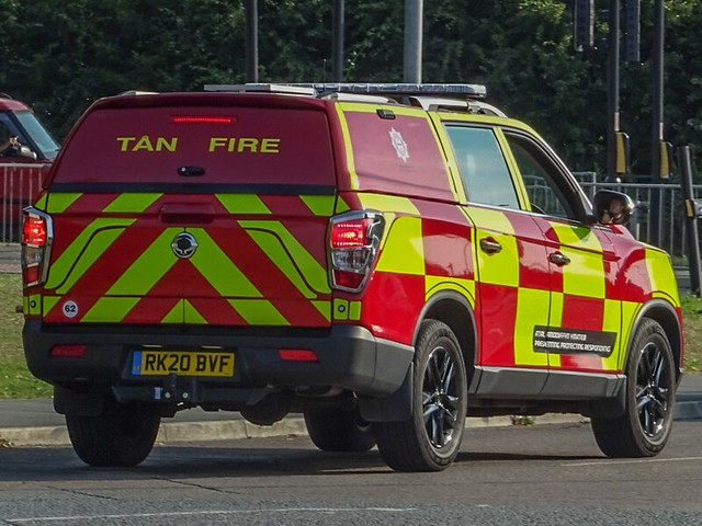 North Wales fire and rescue SsangYoung Musson RK20 BVE