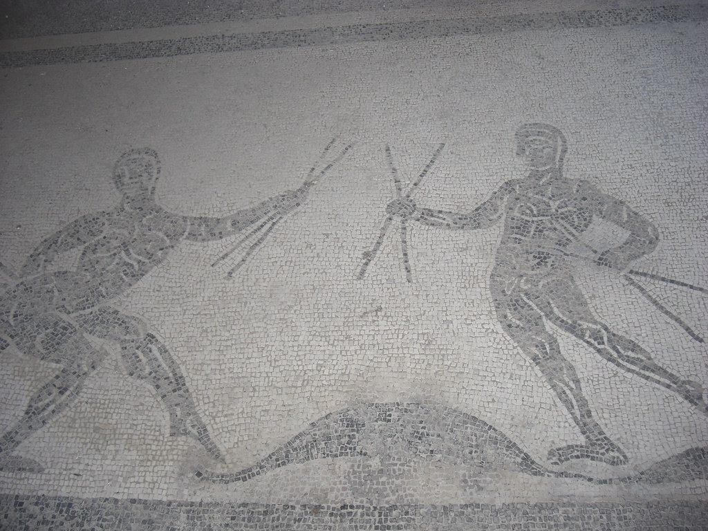 Mosaic of Grotesque Dancing Figure