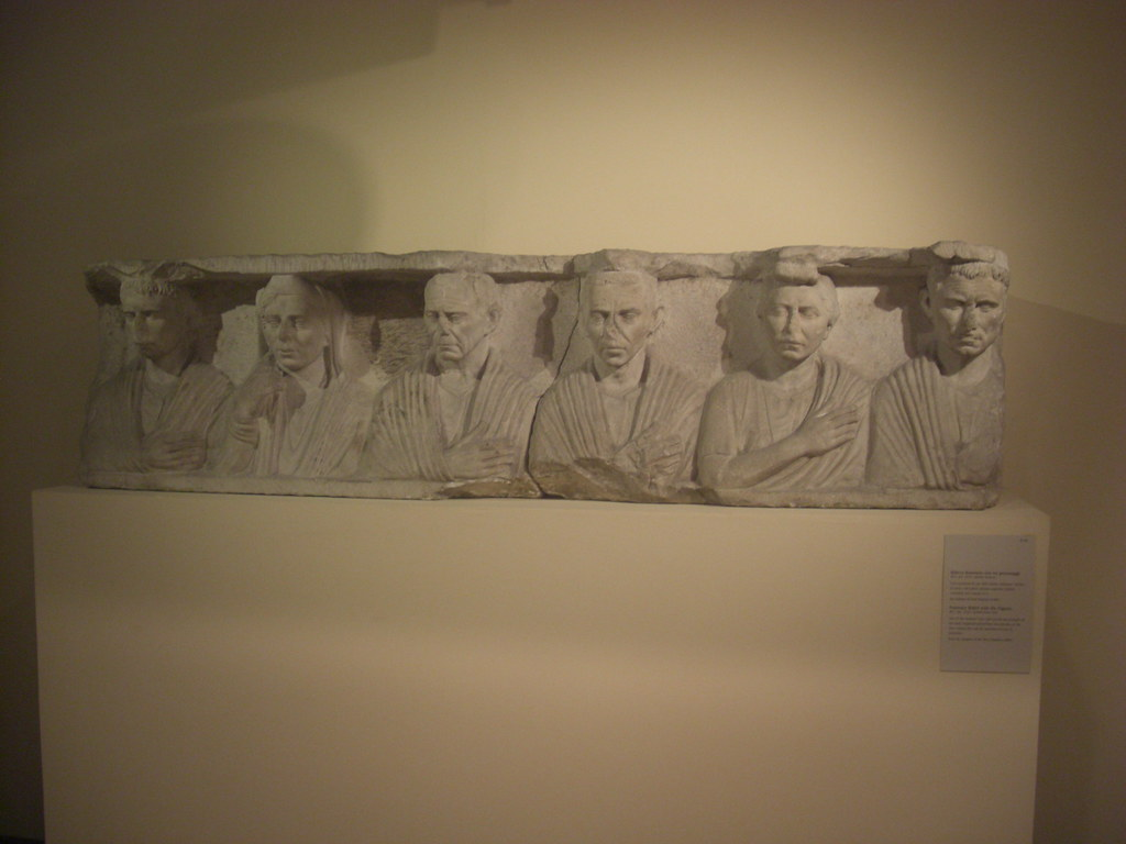 Funerary Monument with Six Figures
