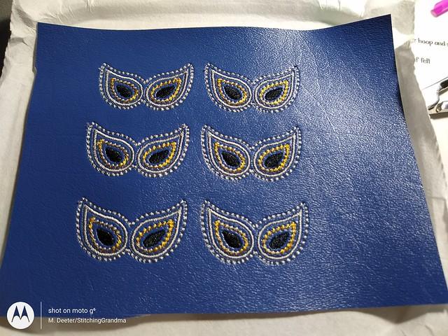 blue vinyl stitchout