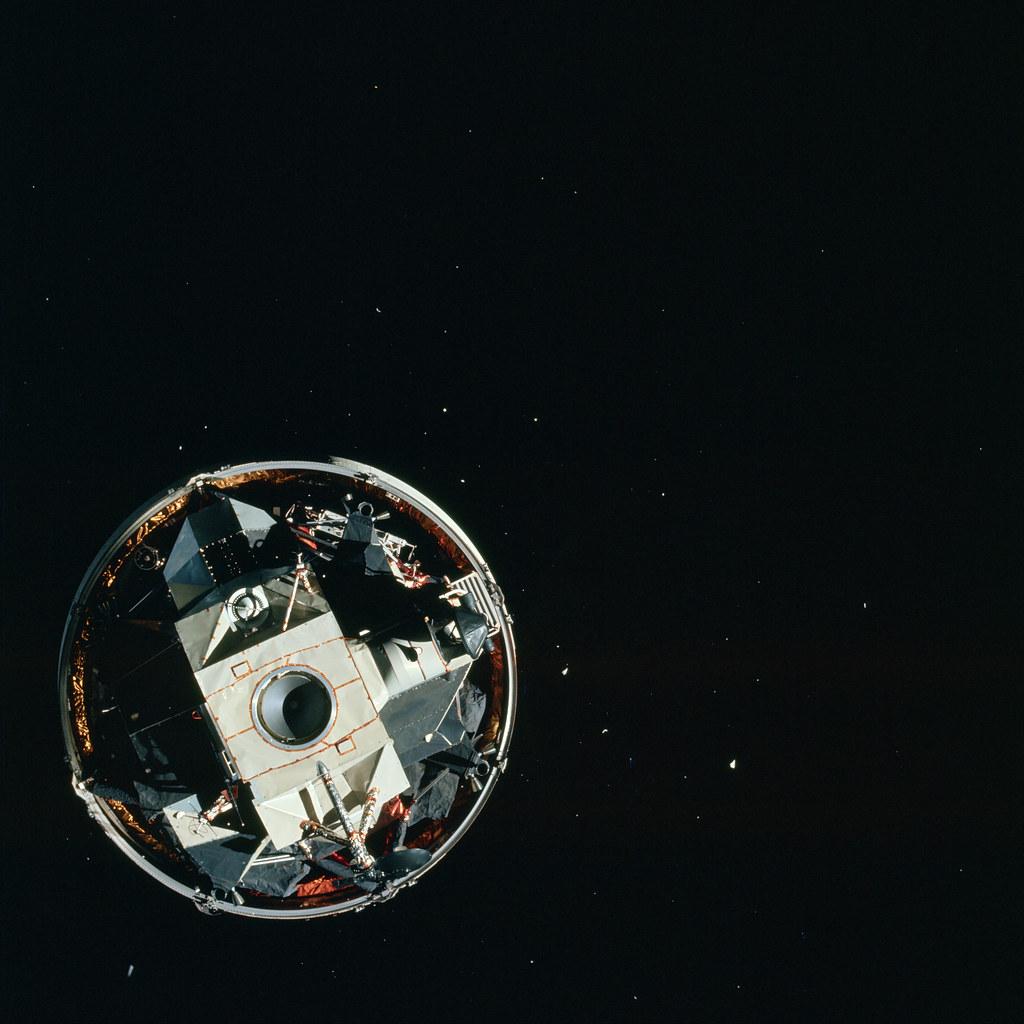 Apollo 15 Lunar Module Prior to Extraction