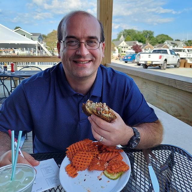 Chris Rowland Eats a Reuben at The Pilot House, Kennebunkport, ME
