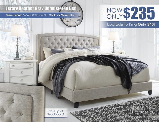 Jerary Heather Gray Upholstered Bed by Ashley_B090-782_July2021