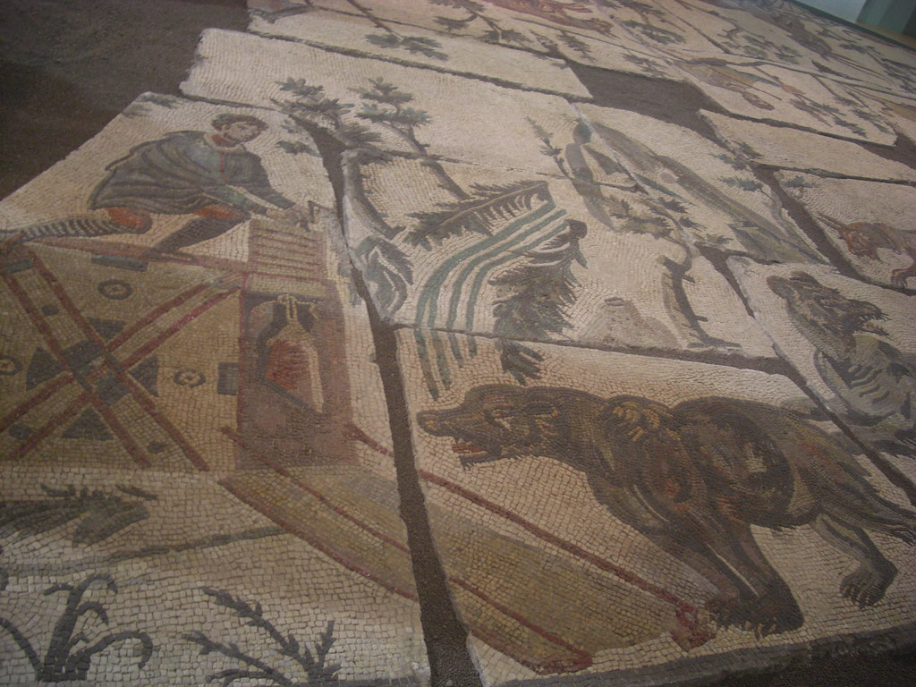 Mosaic with Hunting Scene