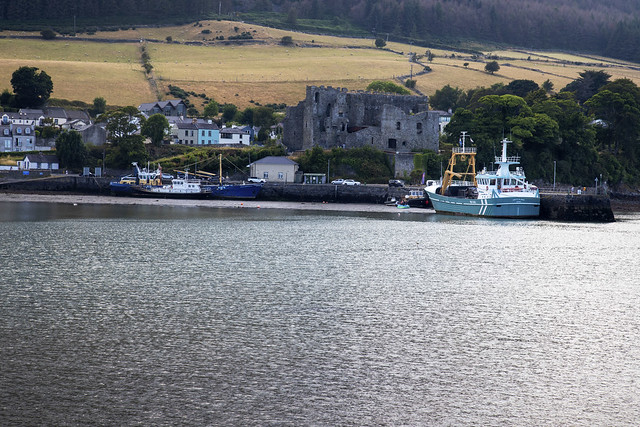 Carlingford Co Louth Ireland with King John`s Castle
