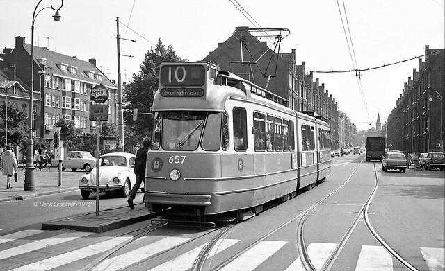 Amsterdam GVB trams 1972