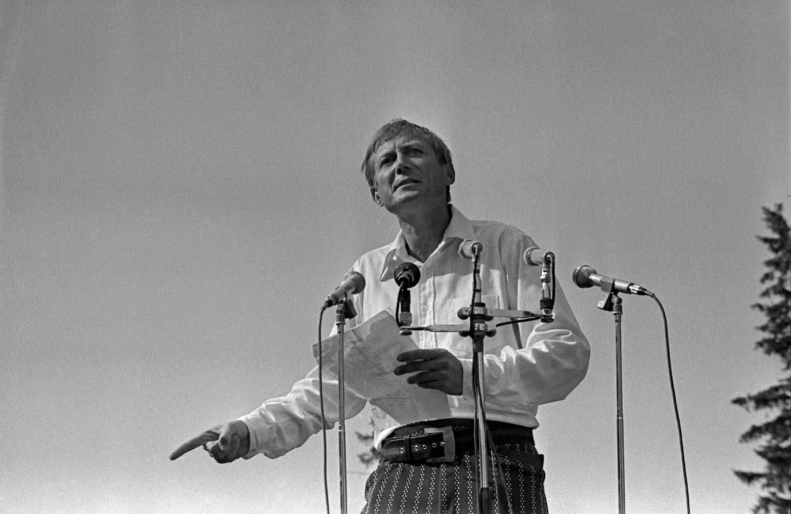 1974. Блоковский праздник в Шахматове, Поэт Евгений Евтушенко (3)