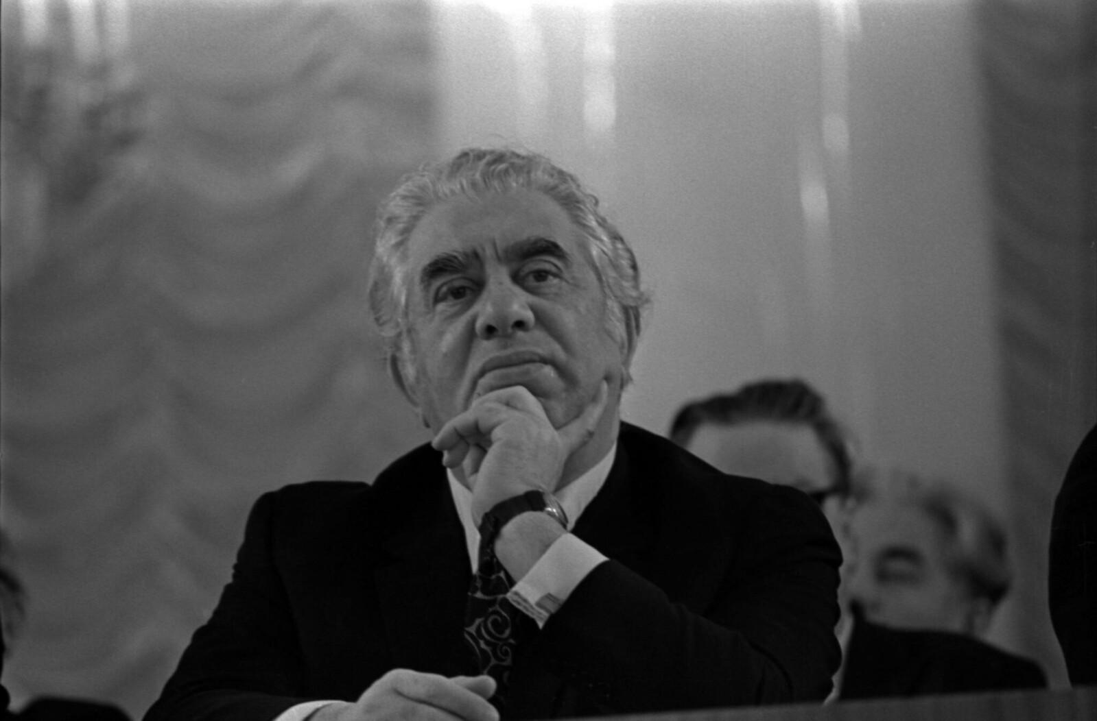 1972. Съезд Союза композиторов СССР в Колонном зале Дома Союзов Арам Хачатурян