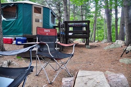 The yurt site at Achray