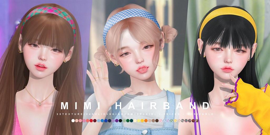 cheezu. mimi hairband x blanc