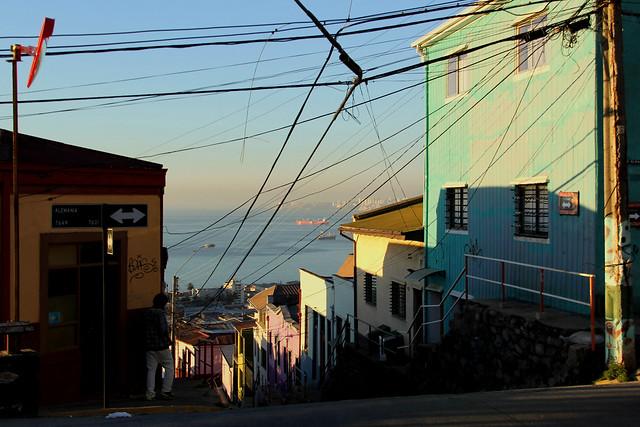 Valparaiso, Puerto Principal y Patrimonio de la Humanidad.  Chile.