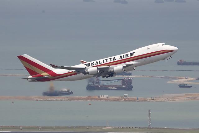 N403KZ, Boeing 747-400F, Kalitta Air, Hong Kong