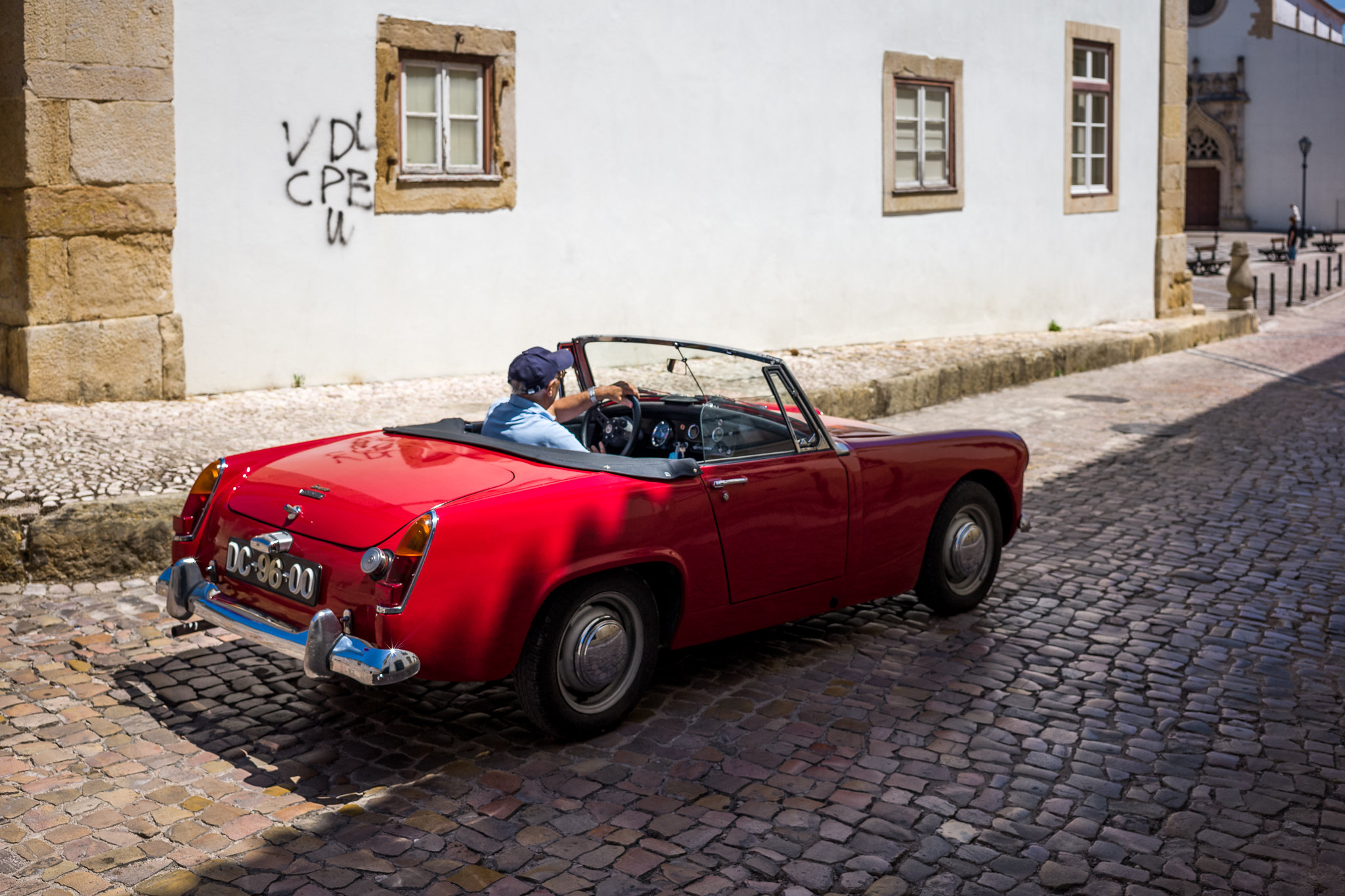 An Old Car in an Ancient Street