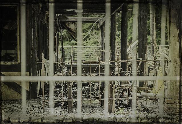 Fences seen through a fence