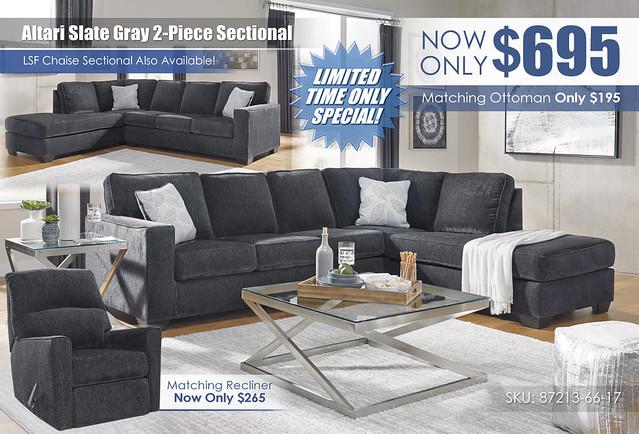 Altari Slate Gray 2PC Sectional wRecliner Insert_87213-66-17-T136_July2021